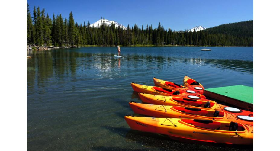 Kayaks On The Water
