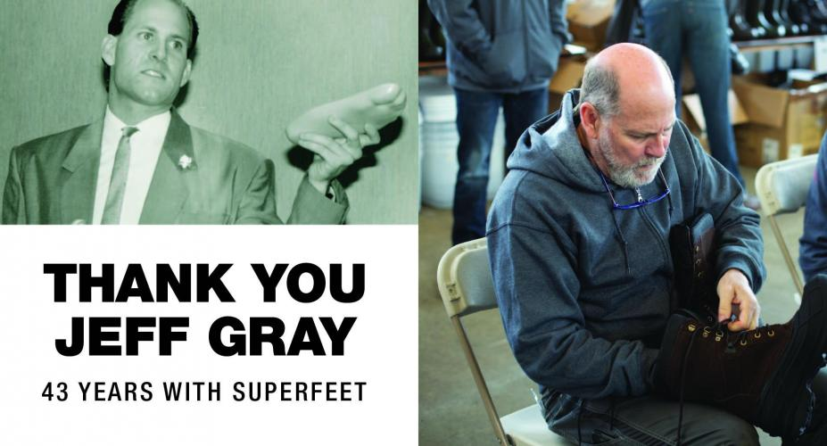 Jeff Gray Retires After 43 Years with Superfeet