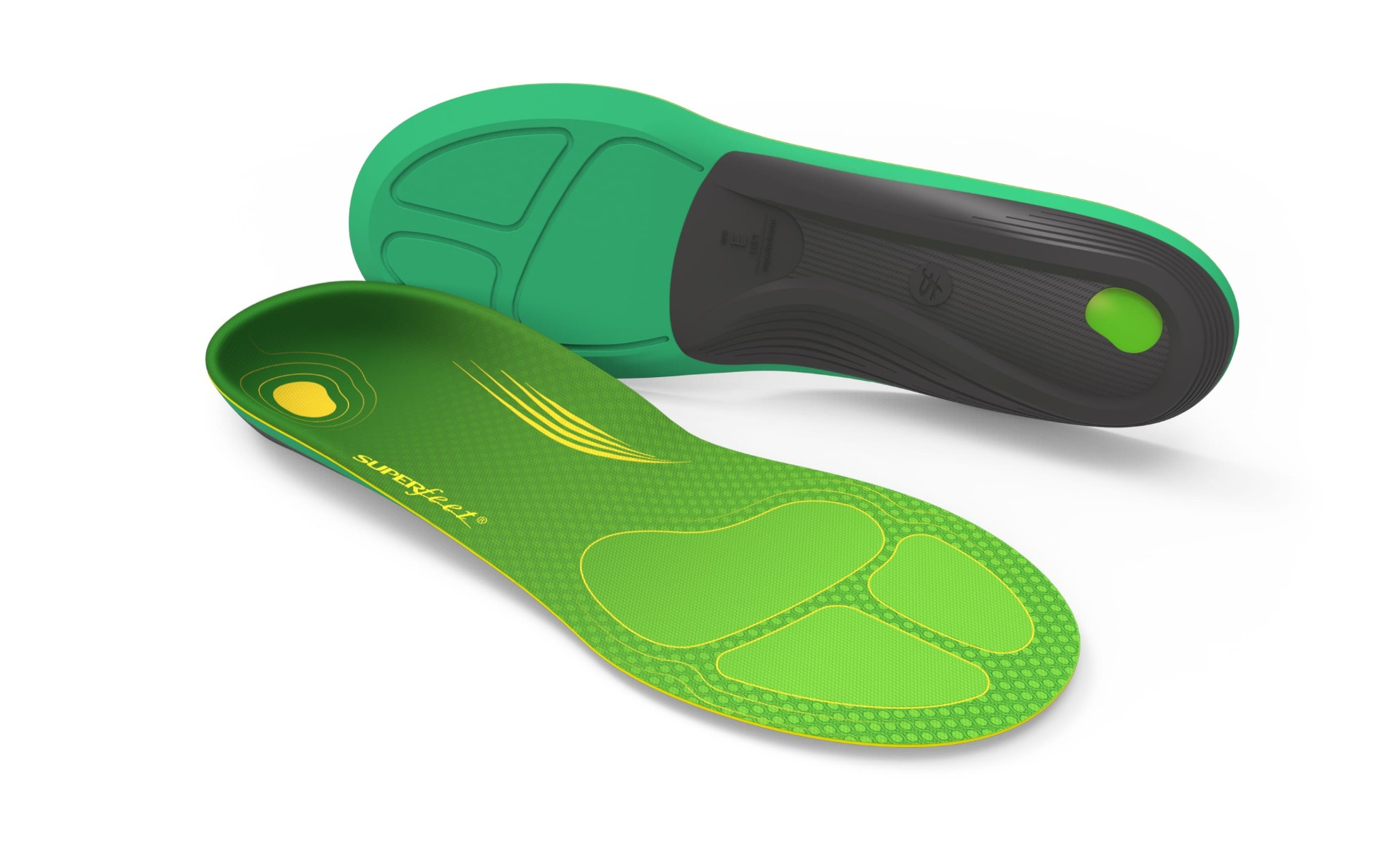 Size G Men/'s U.S. 13.5-15 RIGHT FOOT ONLY New. Super Feet Green Insole