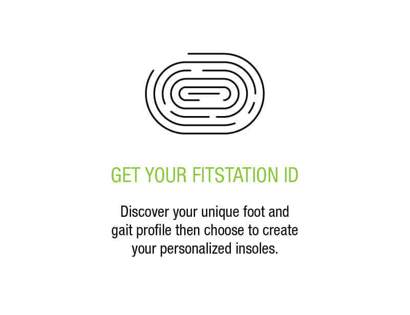 Get your Fitstation ID - Discover your unique foot and gait profile then choose to create your personalized insoles.