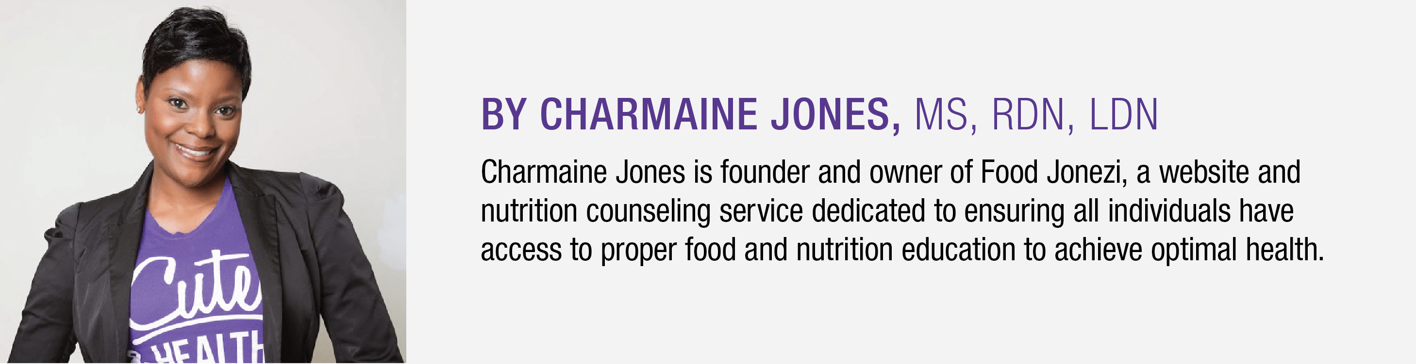 Charmaine Jones bio
