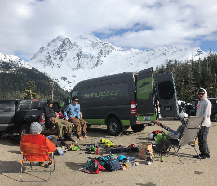 Post-Climb - Mount Baker Parking Lot - Adventure with Superfeet - Mallorie Estenson