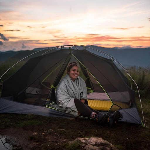Superfeet Ambassador Adriana Garcia camping