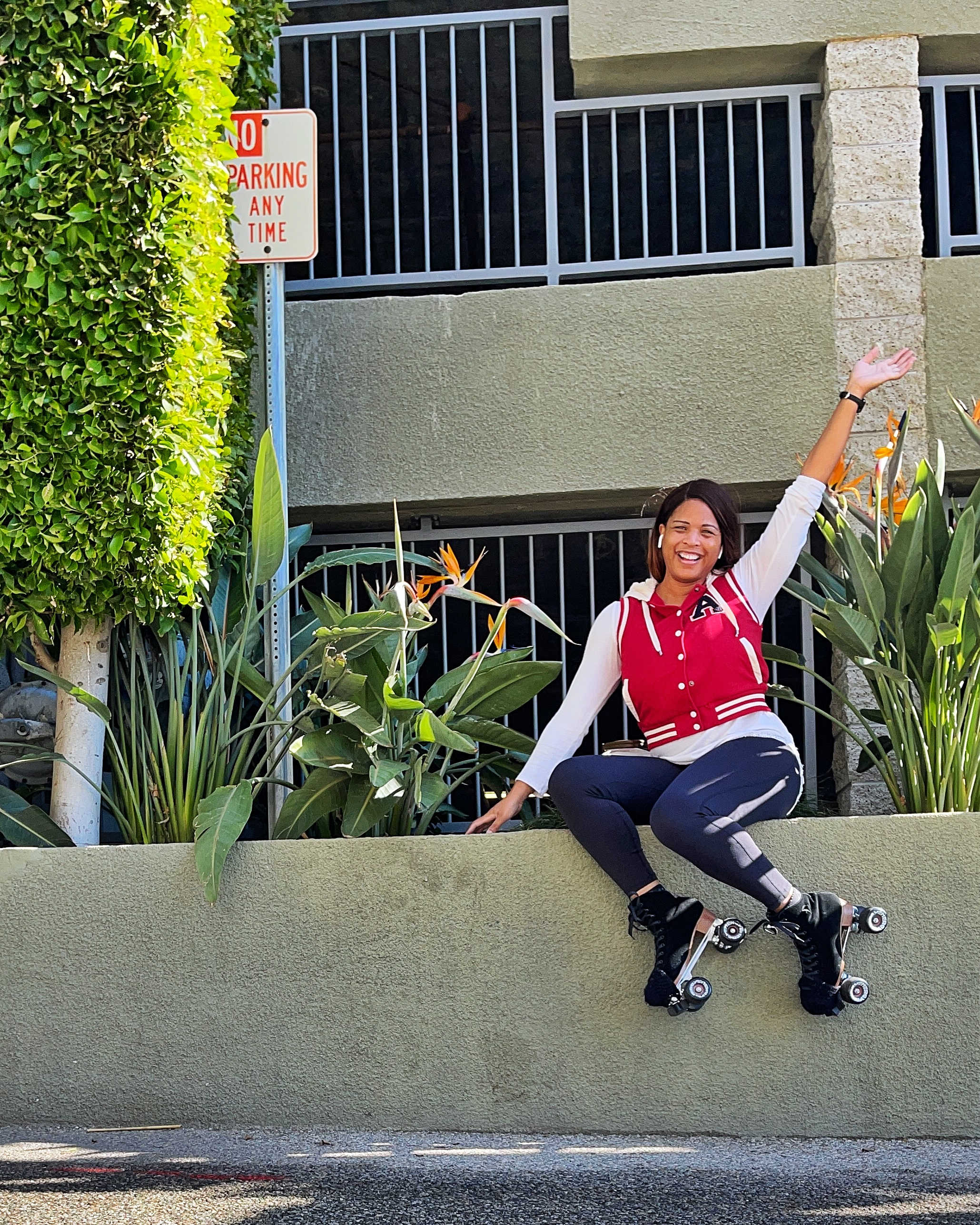 Roller skating is one of Athena Fleming's favorite things to do