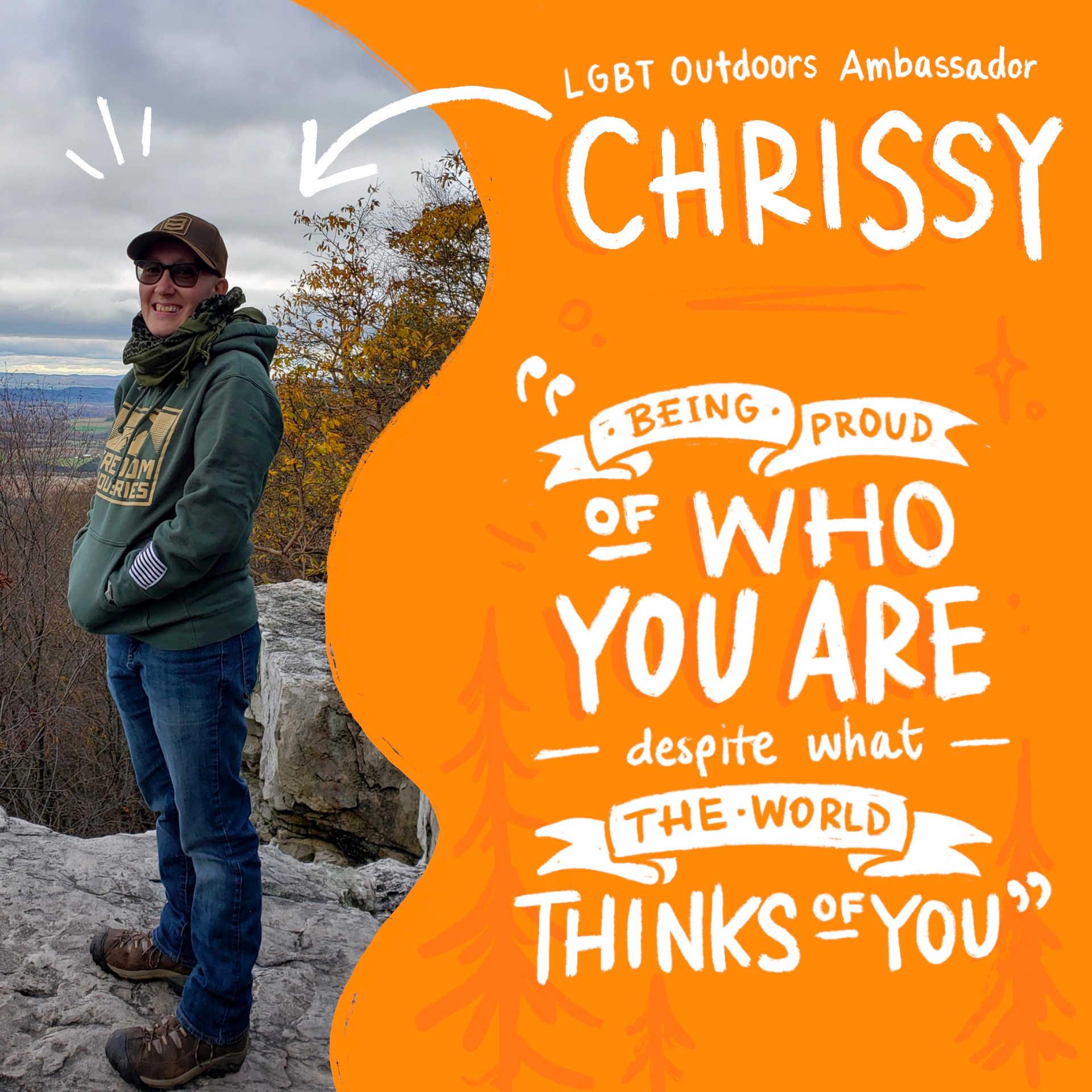 Meet LGBT Outdoors Ambassador Chrissy
