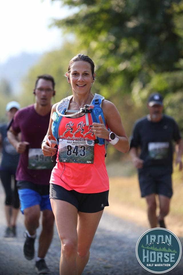 Superfeet Ambassador Christine McHugh competes in a half marathon