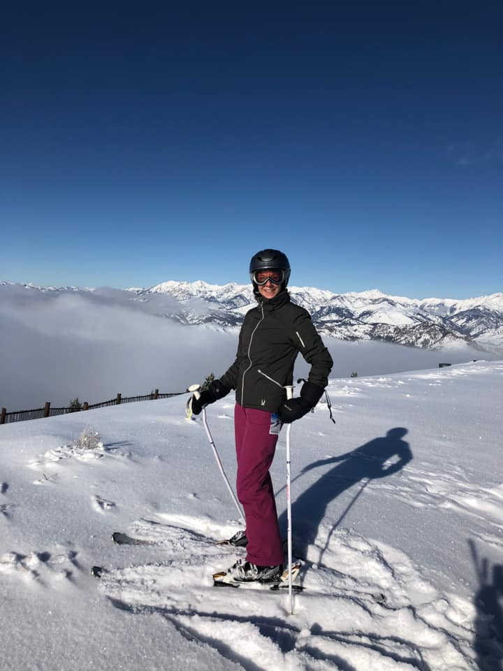 Superfeet Ambassador Christine McHugh skiing