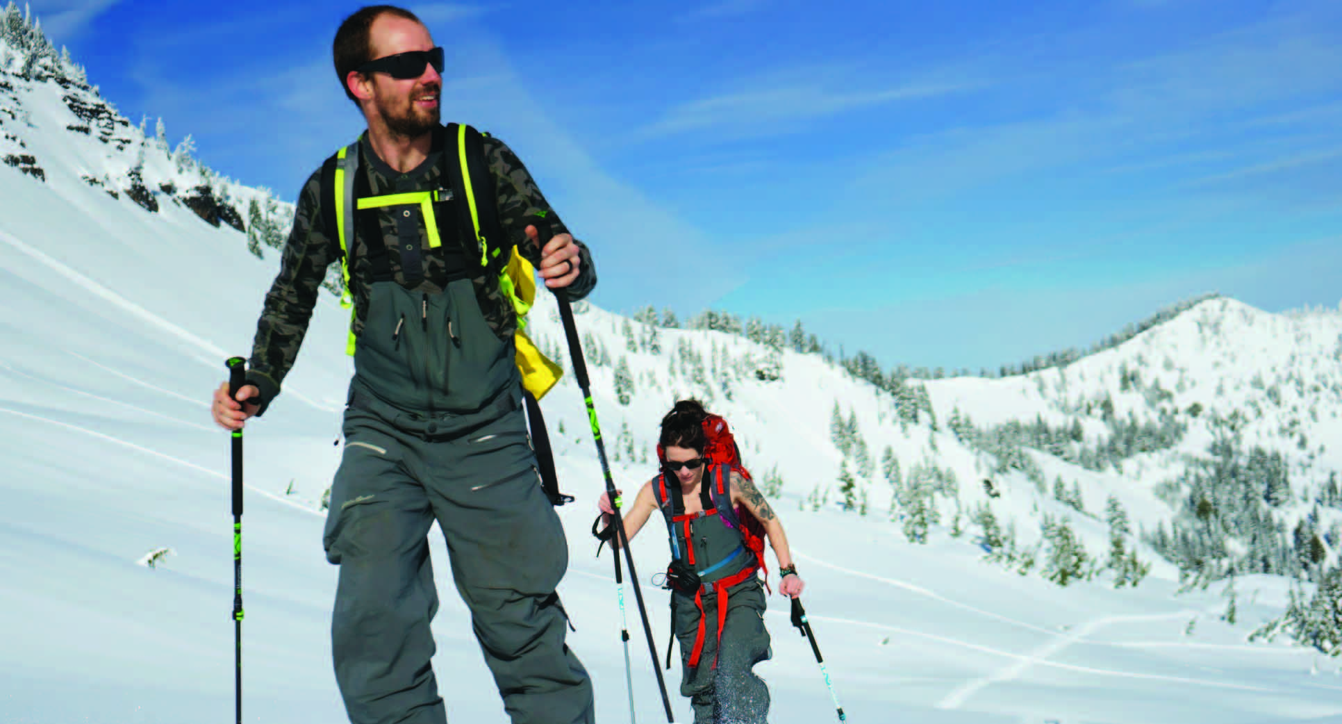 Ski touring with beautiful views
