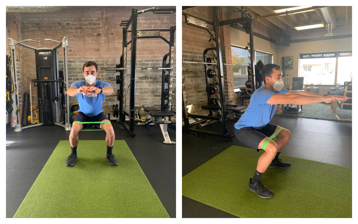 Squats with knee band