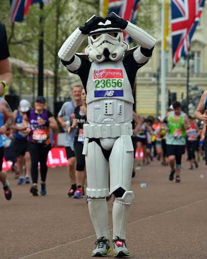 Stormtropper running the London Marathon