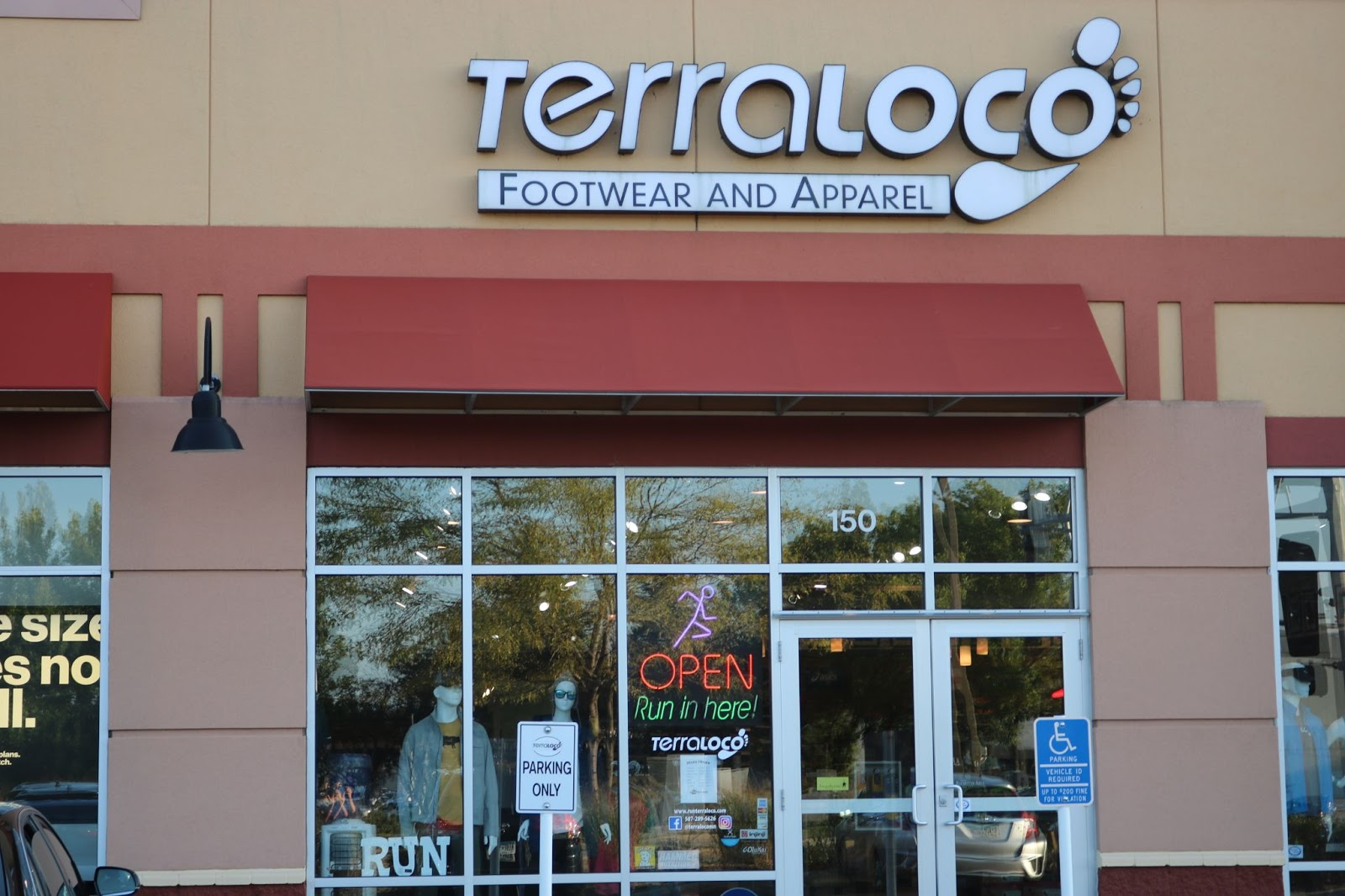 An exterior view of Terraloco speciality running store