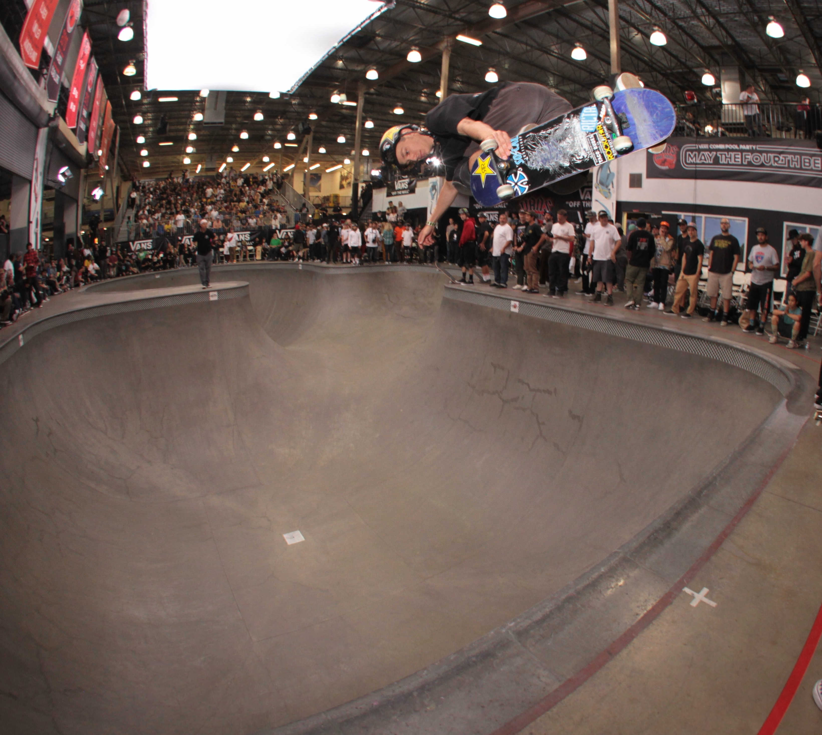 Tristan Rennie at a skateboarding competition