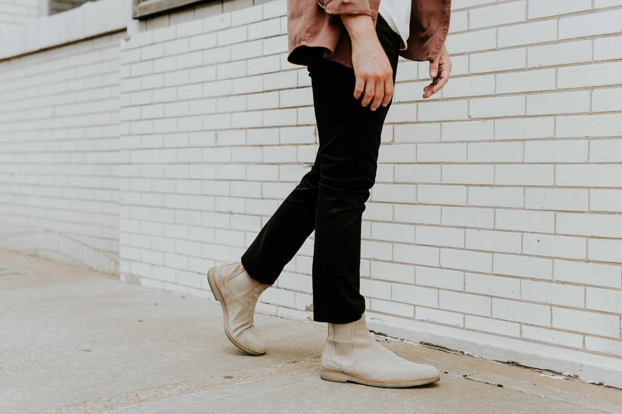Ankle boots like this light tan pair are a good choice for moms on the go