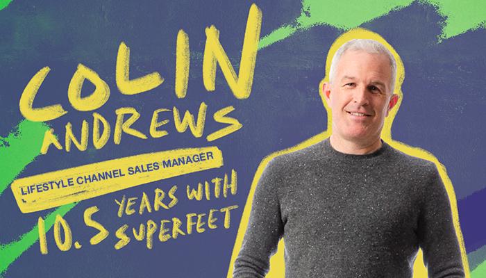 Superfeet employee Colin Andrews