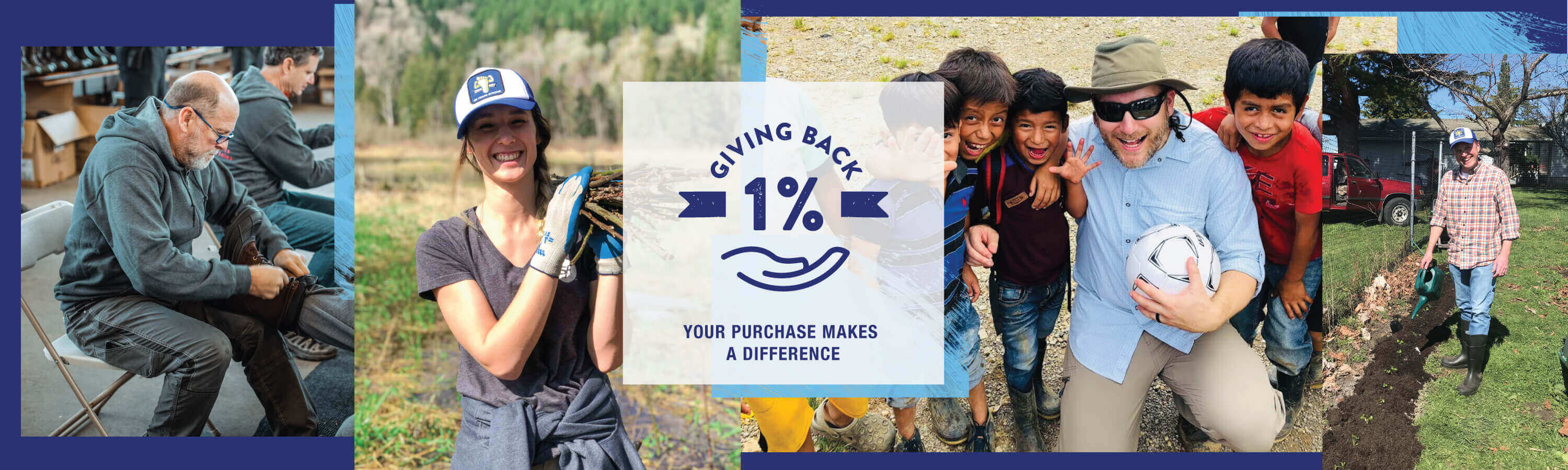 Giving Back 1% - Your Purchase Makes a Difference