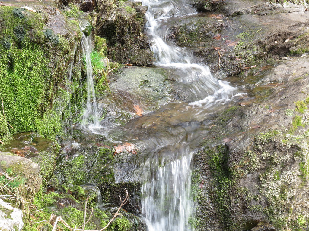 Several small cascades like this one lead up to the 81-foot Lewis Falls. Jason Devaney