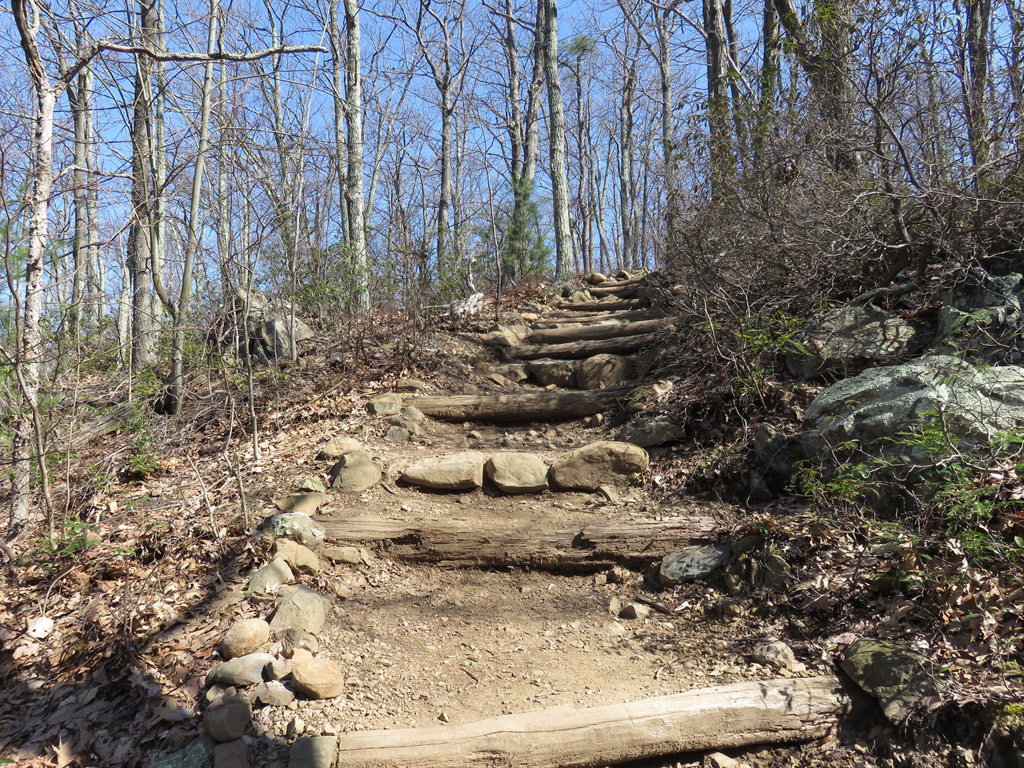 The Tuscarora-Overall Run Falls Trail is strenuous and challenging. Jason Devaney