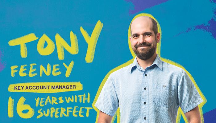 Superfeet employee Tony Feeney