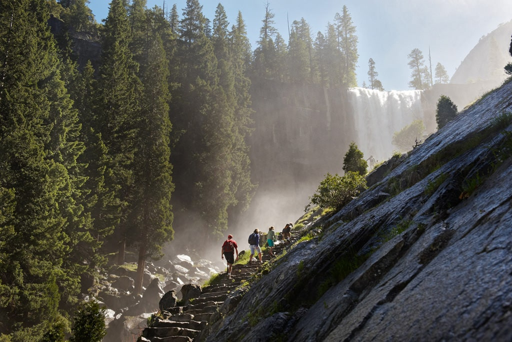 The Mist Trail is one of the most memorable hikes in Yosemite, but prepare for slippery steps and crowds. Yosemite Hospitality