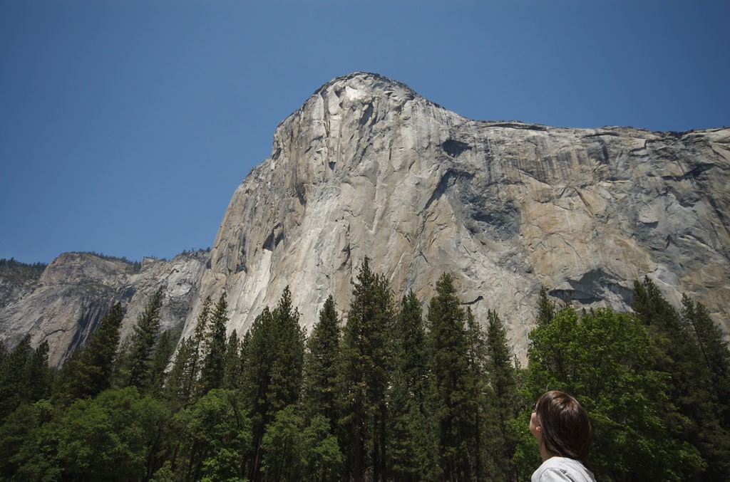 Don't forget the binoculars to try to spot climbers on El Capitan, which draws big-name climbers from all over the world. Phil